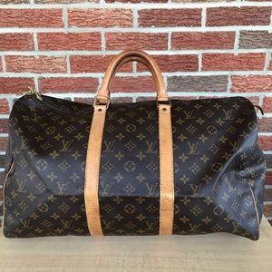Louis Vuitton monogram Keepall 55 Travel duffle